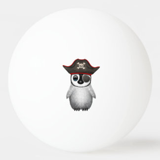 Cute Baby Penguin Pirate Ping Pong Ball