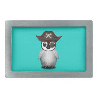 Cute Baby Penguin Pirate Rectangular Belt Buckle