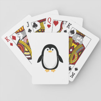 Cute Baby Penguin Playing Cards