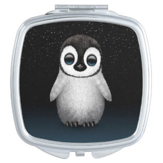 Cute Baby Penguin with Stars Compact Mirrors