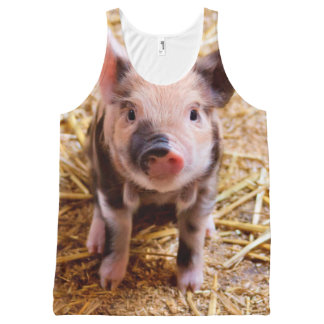 Cute Baby Piglet Farm Animals Babies All-Over Print Tank Top