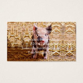 Cute Baby Piglet Farm Animals Babies Business Card