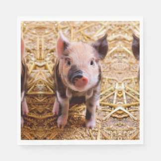 Cute Baby Piglet Farm Animals Babies Paper Napkin