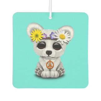 Cute Baby Polar Bear Cub Hippie