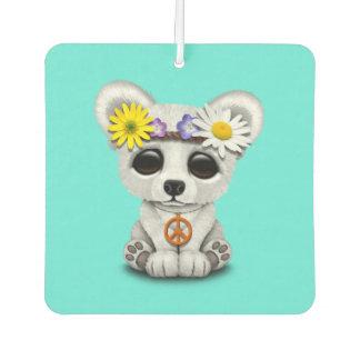 Cute Baby Polar Bear Cub Hippie Car Air Freshener