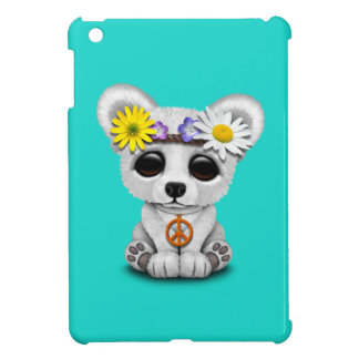 Cute Baby Polar Bear Cub Hippie iPad Mini Cases