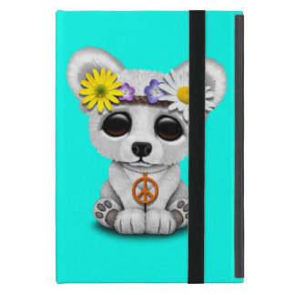 Cute Baby Polar Bear Cub Hippie iPad Mini Cover