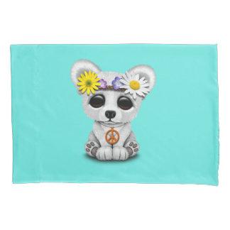 Cute Baby Polar Bear Cub Hippie Pillowcase