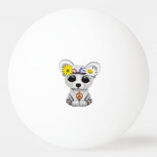 Cute Baby Polar Bear Cub Hippie Ping Pong Ball
