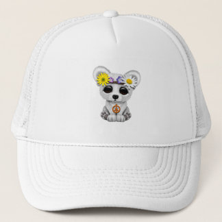 Cute Baby Polar Bear Cub Hippie Trucker Hat