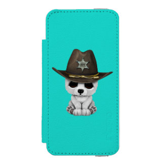 Cute Baby Polar Bear Cub Sheriff Incipio Watson™ iPhone 5 Wallet Case