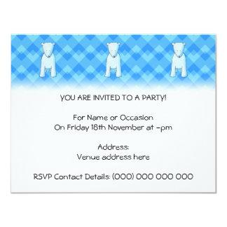 Cute baby polar bear. 4.25x5.5 paper invitation card