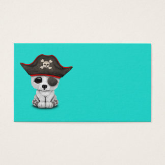 Cute Baby Polar Bear Pirate Business Card