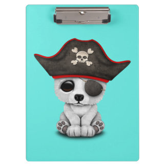 Cute Baby Polar Bear Pirate Clipboard