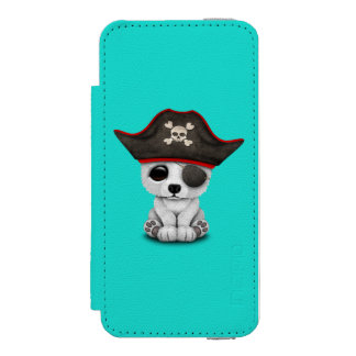 Cute Baby Polar Bear Pirate Incipio Watson™ iPhone 5 Wallet Case