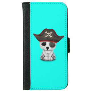 Cute Baby Polar Bear Pirate iPhone 6 Wallet Case