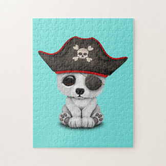 Cute Baby Polar Bear Pirate Jigsaw Puzzle