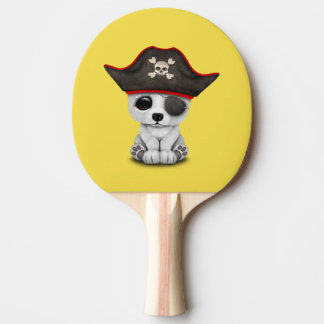 Cute Baby Polar Bear Pirate Ping Pong Paddle