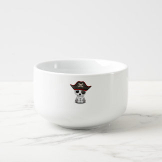 Cute Baby Polar Bear Pirate Soup Bowl With Handle