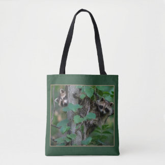 Cute Baby Raccoons Tote Bag