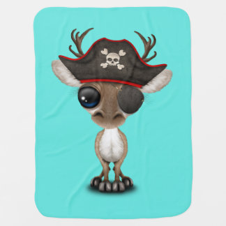Cute Baby Reindeer Pirate Baby Blanket