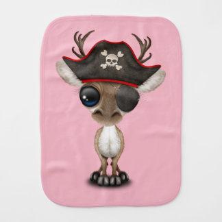 Cute Baby Reindeer Pirate Burp Cloth