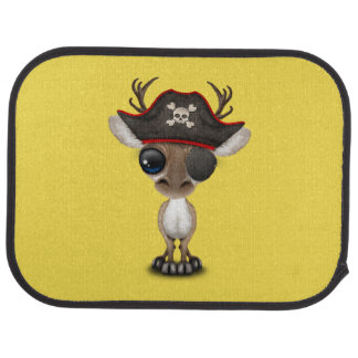 Cute Baby Reindeer Pirate Car Mat