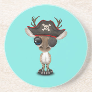 Cute Baby Reindeer Pirate Coaster