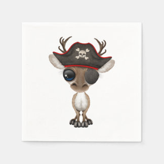 Cute Baby Reindeer Pirate Disposable Serviette