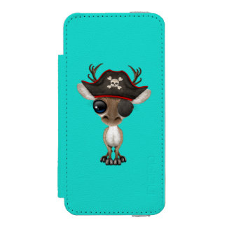 Cute Baby Reindeer Pirate Incipio Watson™ iPhone 5 Wallet Case