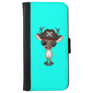 Cute Baby Reindeer Pirate iPhone 6 Wallet Case