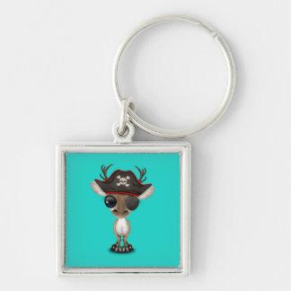 Cute Baby Reindeer Pirate Key Ring