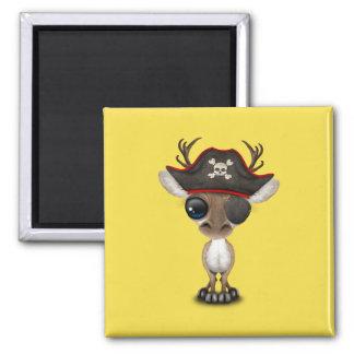 Cute Baby Reindeer Pirate Magnet