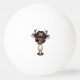Cute Baby Reindeer Pirate Ping Pong Ball