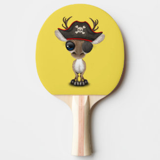 Cute Baby Reindeer Pirate Ping Pong Paddle