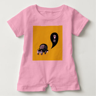 Cute Baby Romper with BLACK TOXIC CAR Baby Bodysuit