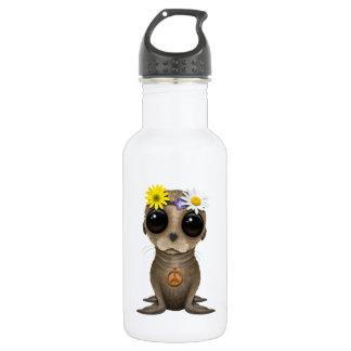 Cute Baby Sea Lion Hippie 532 Ml Water Bottle