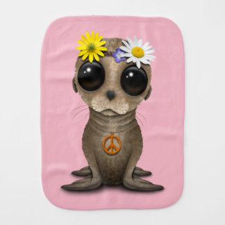 Cute Baby Sea Lion Hippie Burp Cloth