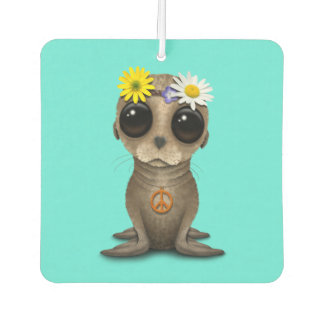 Cute Baby Sea Lion Hippie Car Air Freshener