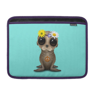 Cute Baby Sea Lion Hippie MacBook Sleeve