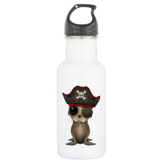 Cute Baby Sea lion Pirate 532 Ml Water Bottle