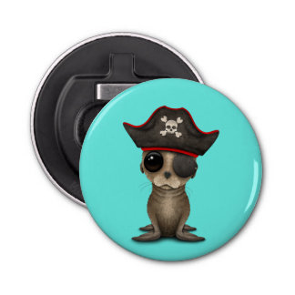 Cute Baby Sea lion Pirate Bottle Opener