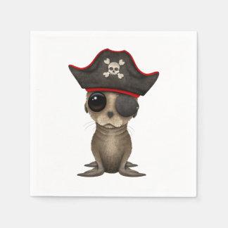 Cute Baby Sea lion Pirate Disposable Napkin