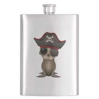 Cute Baby Sea lion Pirate Hip Flask