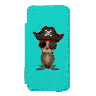 Cute Baby Sea lion Pirate Incipio Watson™ iPhone 5 Wallet Case