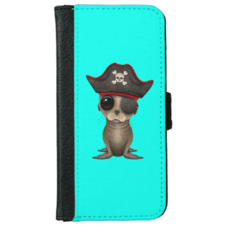 Cute Baby Sea lion Pirate iPhone 6 Wallet Case