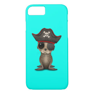 Cute Baby Sea lion Pirate iPhone 8/7 Case