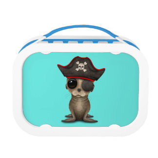 Cute Baby Sea lion Pirate Lunch Box