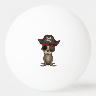 Cute Baby Sea lion Pirate Ping Pong Ball