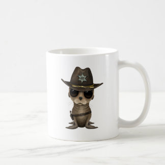 Cute Baby Sea Lion Sheriff Coffee Mug